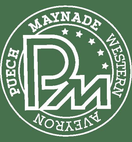 Logo blanc Puech Maynade
